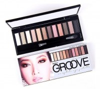 泰國Mistine Groove eye showder 12色大地色眼影盤